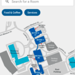 The room finder on the MITRE@Work mobile app.